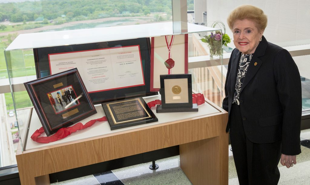 Dr. Alice McPherson and Gonin Medal display