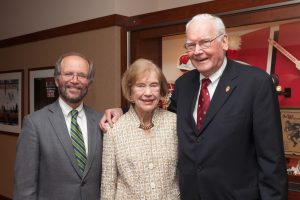 Monroe and Sandra Trout with Dean Robert Golden